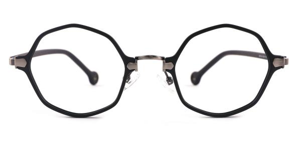 90156 Maggie Geometric silver glasses