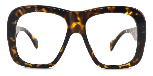 9031 Nathalie Rectangle tortoiseshell glasses