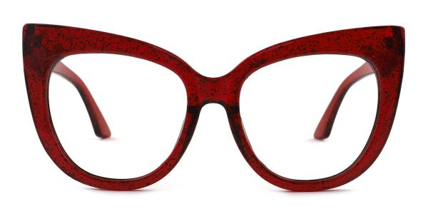 90377 Lola Cateye red glasses