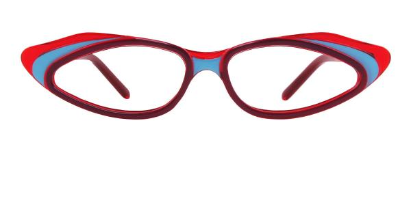 90411 Piper Cateye red glasses