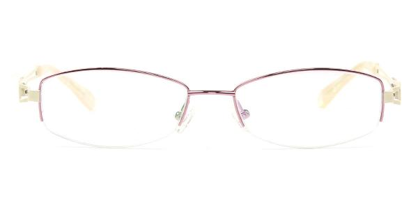 9064 Traveller Rectangle purple glasses