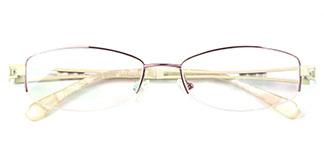 9064 Traveller Rectangle purple glasses