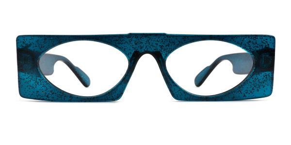 9069 Callie Rectangle blue glasses