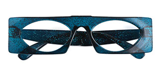 9069 Callie Rectangle blue glasses