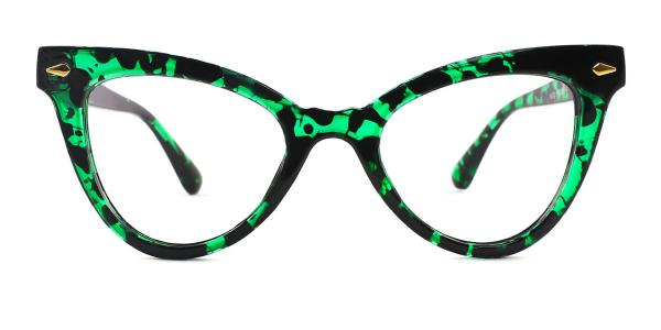 9072 Hayley Cateye green glasses