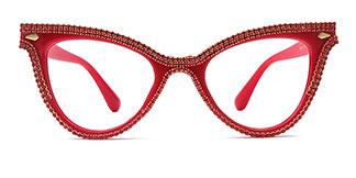 90721 Charity Cateye red glasses