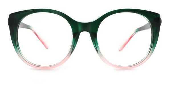 9080 Chauncey Cateye green glasses