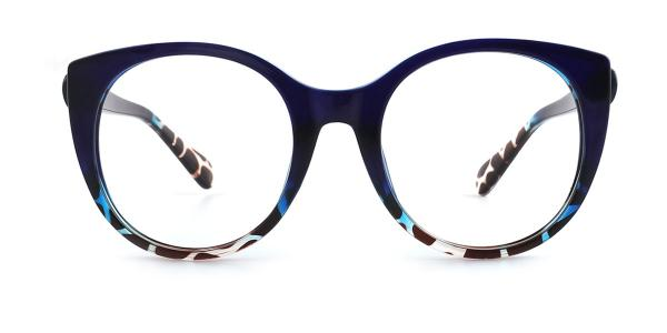 9080 Chauncey Cateye blue glasses