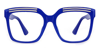 90851 Lillian Rectangle blue glasses