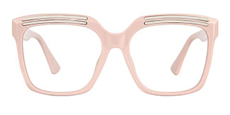 90851 Lillian Rectangle pink glasses