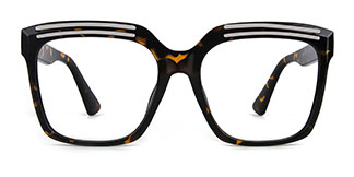 90851 Lillian Rectangle tortoiseshell glasses