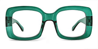 9105 Dalila Rectangle green glasses