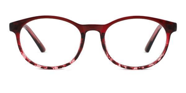 9117 Belle Oval red glasses