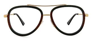 91291 Bjorn Aviator red glasses