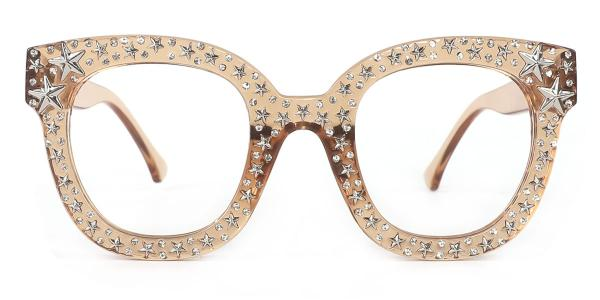 9136 Starry Oval brown glasses