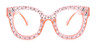 9136 Starry Rectangle,Oval pink glasses