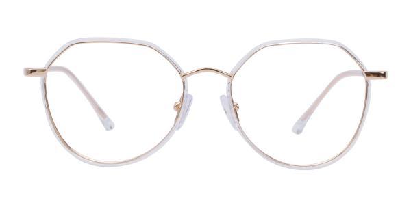 9143 Cain Geometric clear glasses