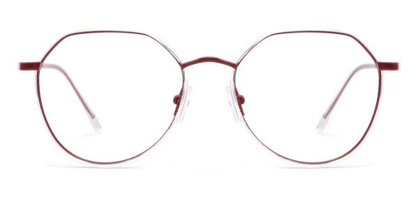 9143 Cain Geometric purple glasses