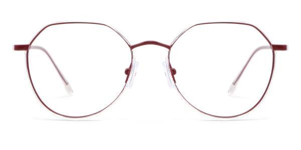9143 Cain Geometric red glasses
