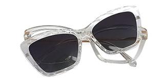 91515 Chandra Cateye clear glasses
