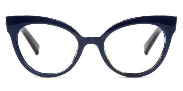 92111 Roosevelt Cateye blue glasses