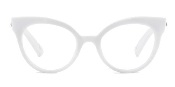 92111 Roosevelt Cateye white glasses