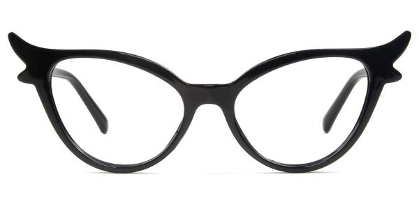 92136 Fawn Cateye black glasses