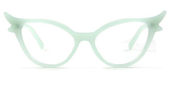 92136 Fawn Cateye green glasses