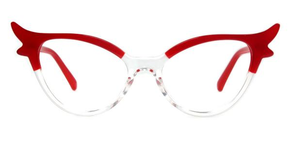 92136 Fawn Cateye red glasses