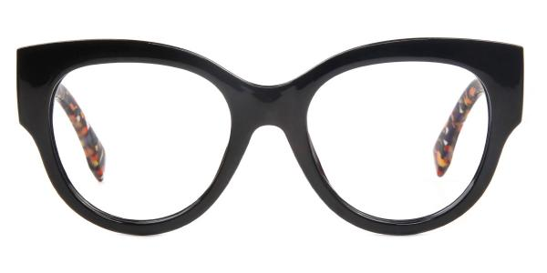 92161 Ragan Oval black glasses
