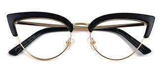 92185 Anthea Cateye black glasses