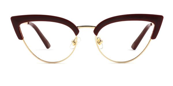 92185 Anthea Cateye red glasses