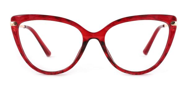92302 Blossom Cateye red glasses
