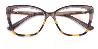 92313 Gigi Rectangle brown glasses