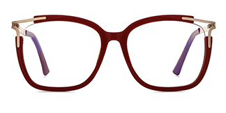 92319 Antonetta Rectangle red glasses