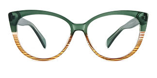 92372 Ami Cateye green glasses