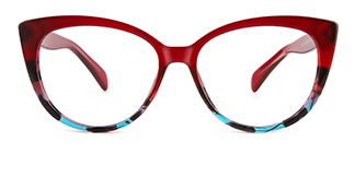 92372 Ami Cateye red glasses