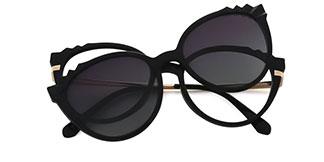 92511 Delphine Cateye black glasses