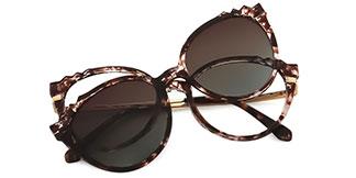 92511 Delphine Cateye tortoiseshell glasses