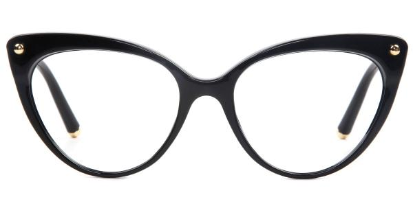 93308 Sims Cateye black glasses