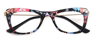9331 SIENNA Rectangle,Butterfly floral glasses