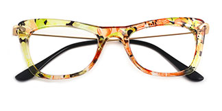 9331 SIENNA Rectangle,Butterfly green glasses