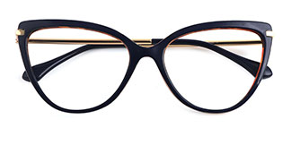 93335 Janice Cateye blue glasses