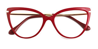 93335 Janice Cateye red glasses