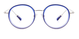 94524 Idalia Round blue glasses