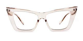 95088 Eboni Cateye brown glasses