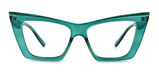 95088 Eboni Cateye green glasses