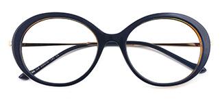 95186 Jessica Oval brown glasses