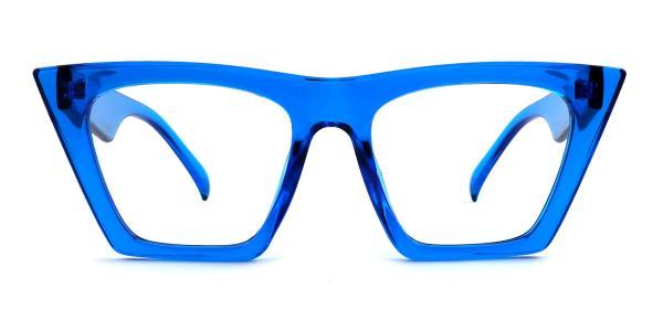 9522 Bella Belle Cateye blue glasses