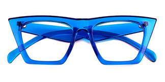 9522 Bella Belle Cateye blue glasses
